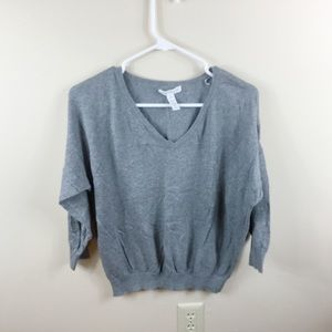 Ambience Apparel Gray Basic Preppy Sweater